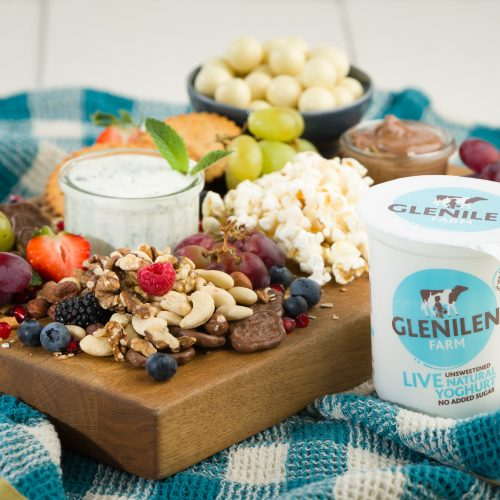 Sweet Sharing Board with Lime & Mint Yoghurt Sauce