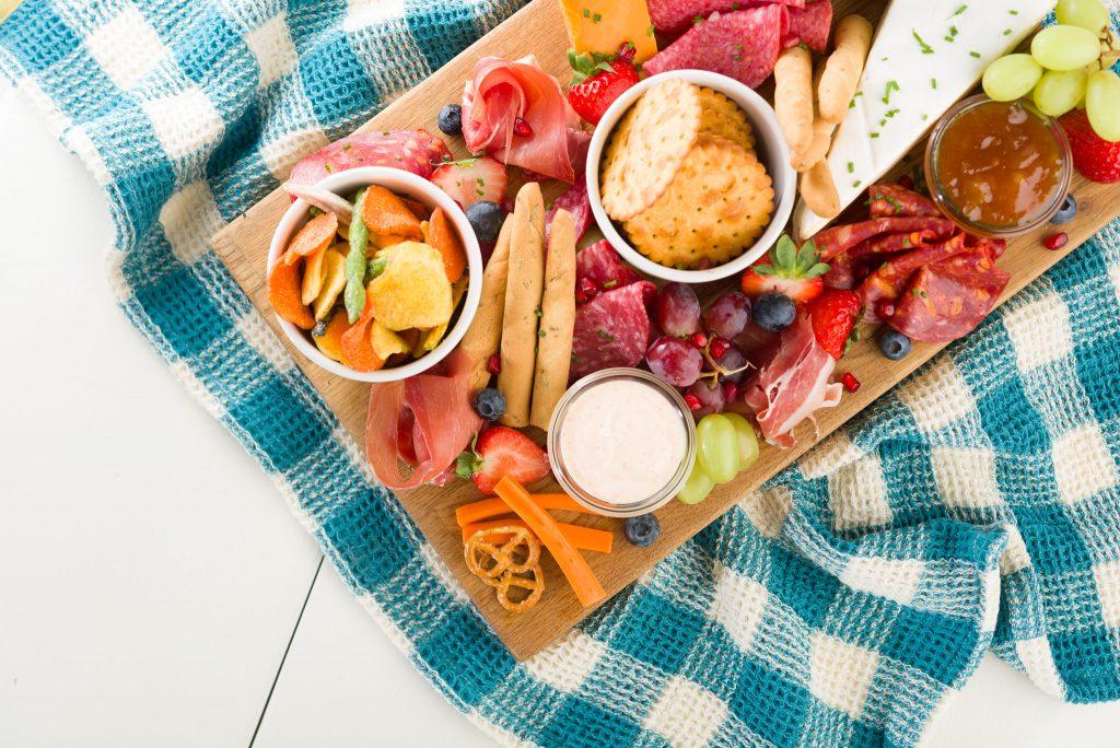 Glenilen Farm Savoury Sharing Board with Sriracha & Paprika Yoghurt Yoghurt
